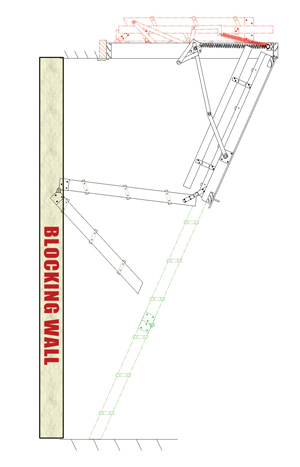 Loft ladder double action ladder