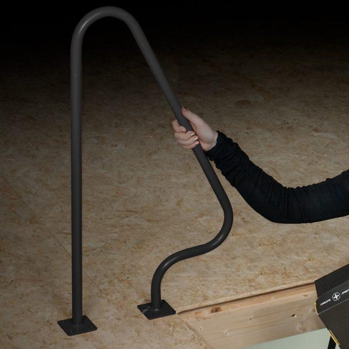 Attic handrail
