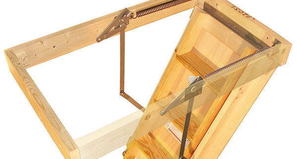 Extra Wide Attic Stairs