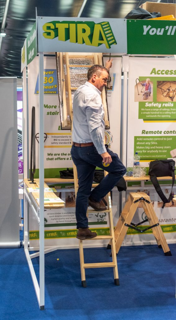 Demonstration of Stira loft ladder UK