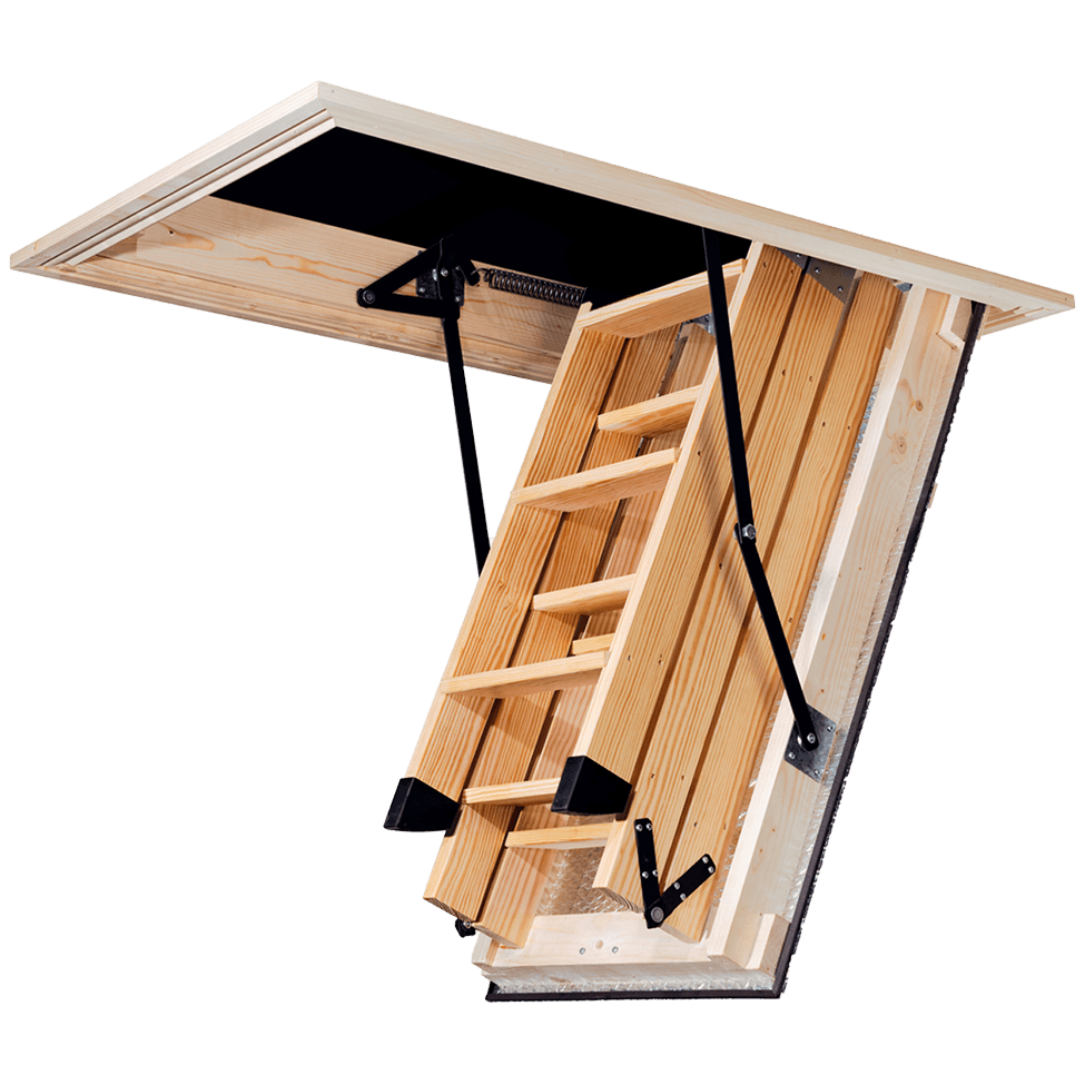 stira attic stairs semi open